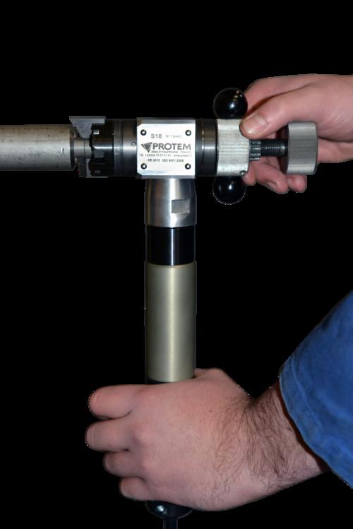 S18 - Machine chanfreineuse de tubes avec moteur pneumatique