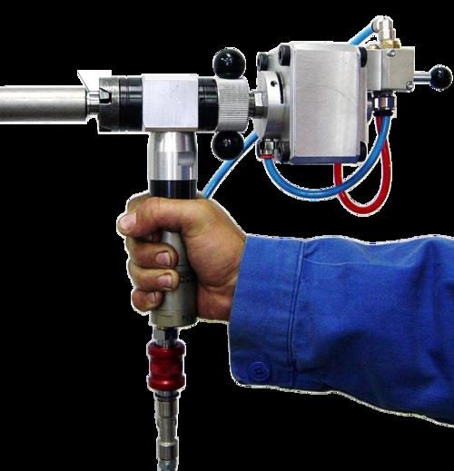 S18CA - Machine à chanfreiner avec moteur pneumatique et serrage automatique