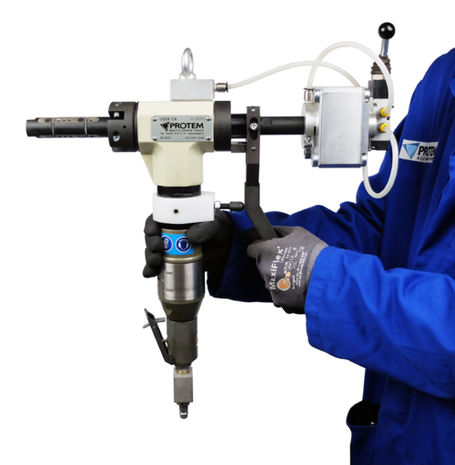 US25CA - Machine chanfreineuse de tubes avec serrage automatique