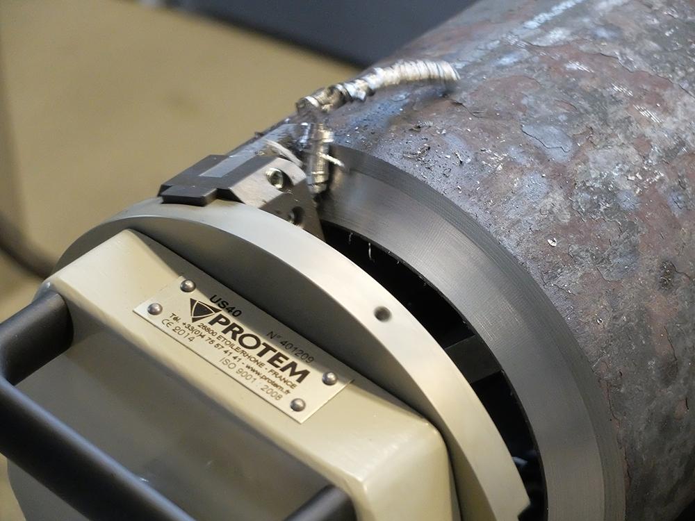 US40 - Machine chanfreineuse de tubes avec motorisation pneumatique Préparation à la soudure