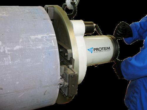 US150 - Machine chanfreineuse de tubes avec moteur pneumatique