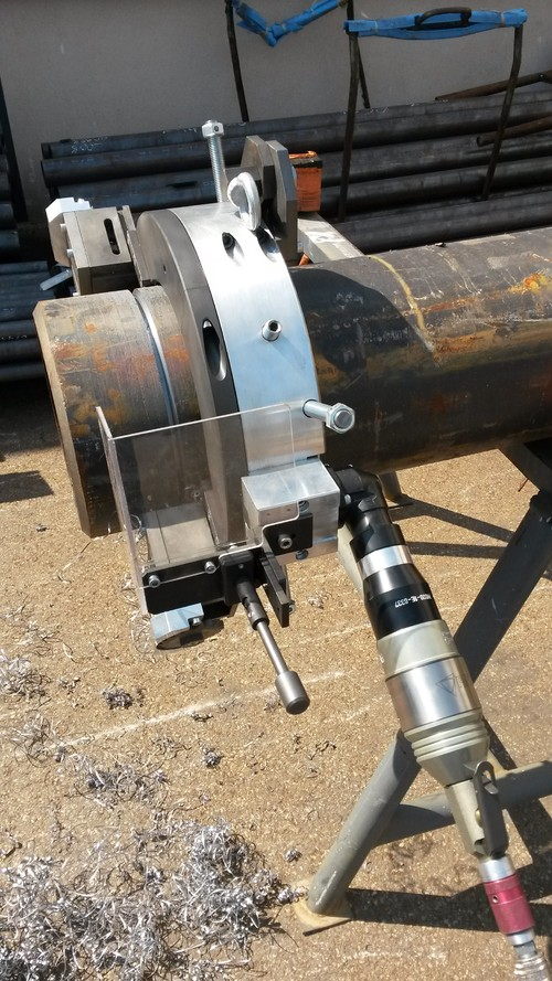 TTNG219 -  Станок для резки и снятия фасок с пневматическим приводом для труб от 4