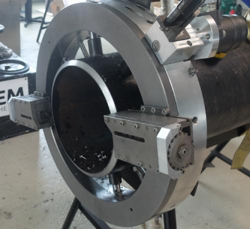 TTNG508 -  Станок для резки и снятия фасок с пневматическим приводом для труб от 12