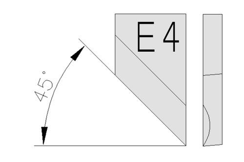 O-S18-E4-4-H-53 Outil à chanfreiner 45°
