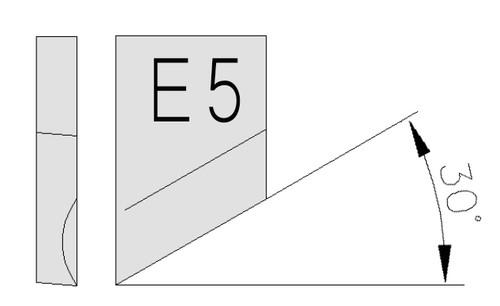 O-S18-E4-4-H-54 Outil à chanfreiner 30° inversé