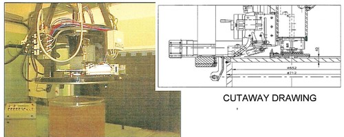 MACHINE AUTOMATIQUE DE SOUDAGE DES COUVERCLES DE COLIS FINAUX (déchets faiblement contaminés)